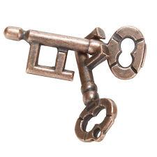 1 Pcs Alloy Key Ring Puzzle Brain Tester IQ Test Kids Adults Intelligent Toys CU