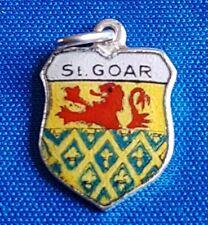 SANKT GOER    Vintage Silver Travel Shield  Bracelet Charm.