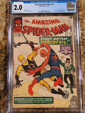 1964 Marvel Comics Amazing Spider-Man 16 CGC 2.0. 1st Daredevil Crossover.