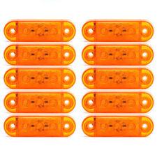 10x 12/24V 3 SMD LED Jaune Feux Remorque Indicateur Marqueur Latéral Camion