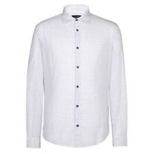Armani Jeans - White w/ Navy Dots Shirt - Size M - *NEW WITH TAGS* RRP £130