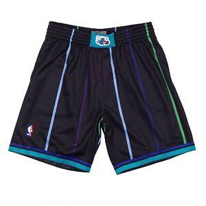 Mitchell & Ness Charlotte Hornets Mourning Bogues STRIPES BLACK SWINGMAN Shorts