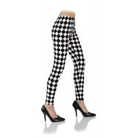 Leggings Black White Argyle Diamond Checkered Harlequin Adult Women/'s XS-XL