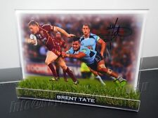 ✺Signed✺ BRENT TATE Photo & Frame PROOF North Queensland Cowboys NRL 2018 Jersey