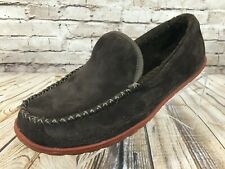 LL BEAN Mountain Fleece Lined Slip Resistant Casual Slippers Moccasin Men's 8 M