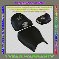 Unique Custom Seat COVER Suzuki Hayabusa 99-07 (1 Gen) Black+Silver (2pil)