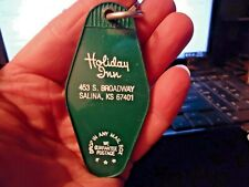 vintage Holiday Inn Salina KS Hotel Key & Green Fob that is in great shape - NR