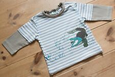 Baby Boys Monsoon Long Sleeved Cotton Top. Embroidered/Applique. Age 3-6 Months.