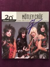 Vince Neil Best Of Motley Crue Collection Autographed Signed CD Booklet