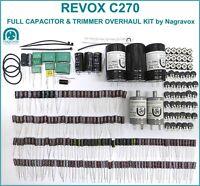 REVOX C270  tape recorder FULL machine capacitor & trimmer overhaul kit