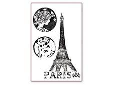 Stamperia Acrylic Stamp - Paris - Eiffel Tower, Postmarks - Travel, Holidays