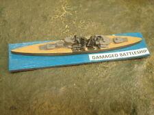 1/2400 Handpainted Damaged WWII Battleship Objective Marker