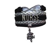Infinity Collection Nurse Bracelet,Nurse Charm Bracelet Makes Perfect Nurse Gift
