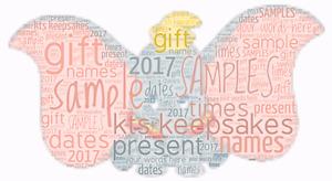 word art picture personalised gift present keepsake dumbo birthday