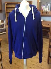 New Without Tags Mens Zip Up Blue Hoodie With Pockets Size 5XL