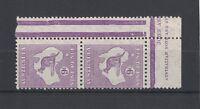 1932 Australia Roo 9d violet CofA Wmk SG 133 muh pair
