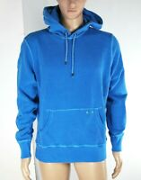 Felpa Uomo Cappuccio FRANKLIN & MARSHALL Italy Hoody Azzurro Blu H094 Tg L