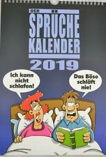 Sprüche Kalender 2019 zum Aufhängen Wandkalender Comics Lustig  23,5cm x 34cm