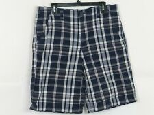 MEN'S Faded Glory Blue Plaid Shorts Size 34