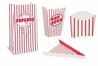 Hollywood Movie Prom Night Party Popcorn & Pizza Trays Bags & Boxes