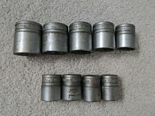 """Snap On Set Of 9 12-point Prese 1/2 """" Drive"""