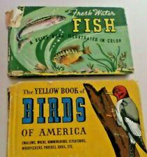 Freshwater Fish and Yellow Book of Birds of America HC  Whitman Publishing