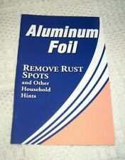Aluminium Aluminum Foil Remove Rust Sports & Other Household Uses Booklet