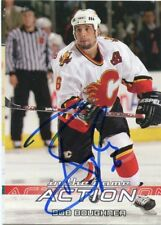 BOB BOUGHNER FLAMES AUTOGRAPH AUTO 03-04 IN THE GAME ACTION #9 *43654
