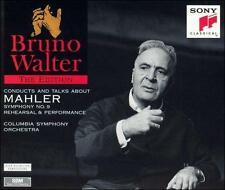 Bruno Walter Conducts and Talks About Mahler Symphony No. 9 (CD, Jan-1995, 2 Dis