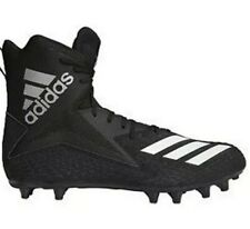 Wide (E) Black Football Cleats for Men