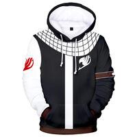 Fairy Tail Natsu Hoodie Jacket Sweatshirt Pullover Cosplay Costume Coat