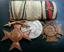 ✚6435✚ German WW1 mounted medal group Bavarian Merit Honour Cross Service Medal
