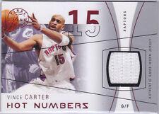 Vince Carter 2003 04 Flair Hot Numbers Jersey 65/175 Toronto Raptors Mavs