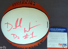 DORELL WRIGHT Signed NBA Spalding Mini Basketball D3 #1 Auto PSA/DNA Autograph
