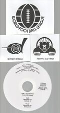 Original WFL Radio Broadcast on CD - Memphis Southmen vs Detroit Wheels - 1974