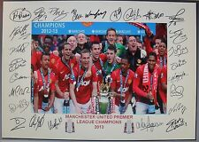 MANCHESTER UNITED 2007, 2008, 2009, 2011, 2013  Premiership Fully signed Prints