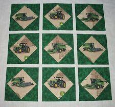 9 John Deere Quilt Top Blocks Tractors  Farm Ranch