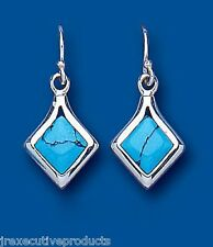 Turquoise Earrings Sterling Silver Drop Solid Drops