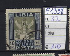FRANCOBOLLI ITALIA COLONIE LIBIA USATI N°32 (F1398)