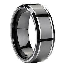 Tungsten Carbide Grey Men's Wedding Band Wedding Ring Never Tarnish Size 9 M1