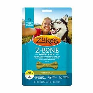 Mini Z-Bone Grain Free Dental Chew Dog Treats With Apples - 8.25 oz Bag