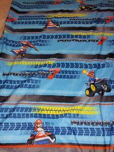 Nintendo MARIO KART 7 Twin Size Flat bed Sheet {Microfiber Fabric}