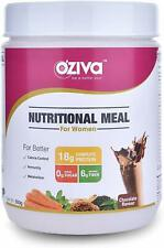 OZiva Nutritional Meal Shake (Meal Replacement) for Women, Chocolate, 16 serving