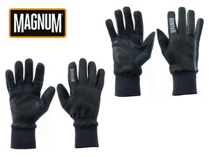 Magnum Hawk And Owl Gloves Mens Warm Durable Work 100% Polyester Silicone Grip