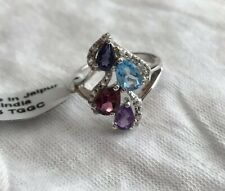 NWT Multi-Gemstone Sterling Silver Ring, Size 7