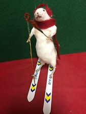 Sale*Taxidermy Real Mouse Snow Skiing!  Hitting the slopes!/rat-bat-beetle-bird