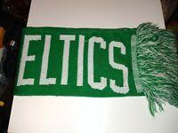 "Boston Celtics NBA Basketball Fringed Winter Scarf Green Unisex 7"" x 48"" EST..."