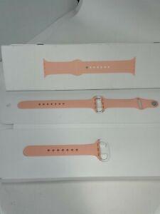 Genuine Apple Sport Band Strap for Apple watch 6 5 SE 44mm 3 2 42mm Grapefruit