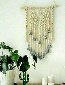 Hand-woven Macrame Wall Hanging Dream Catcher Tapestry Bohemian Home Decor New