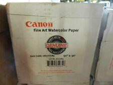 """New Genuine Canon 0826V689 Fine Art Watercolor Paper 50"""" X 50' Textured Matte"""